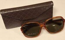 Gucci Asian Fit Oversize Havana Brown Tinted Sunglasses Gg3834/F/S056Ej Nib
