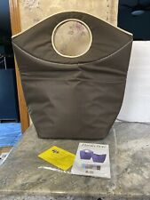 """New Pursfection Multi-Purpose Extra Large Collapsible Tote Bag Mocha Brown 22"""""""