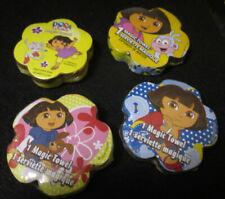 Magic Towels / Washcloths Set Of 4 Dora the Explorer New 4 Different Towels
