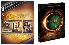 IL SIGNORE DEGLI ANELLI+LO HOBBIT-TRILOGIE CINEMATOGRAFICHE(6 DVD)-2 COF. NUOVI