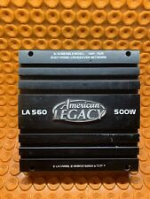 AMERICAN LEGACY 500 WATT LA 560 2 CHANNEL AMPLIFIER