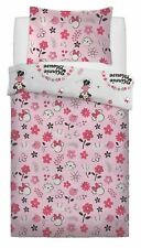 New Minnie Mouse Floral Wink Single Duvet Quilt Cover Bedding Set Kids GirlsGift