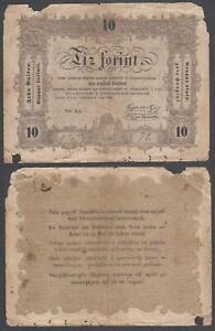 Hungary - State Notes Ministry of Finance, 10 Forint, 1848, VG+++, P-S117