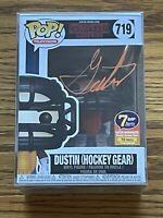 Funko Pop Dustin Hockey Gear #719 Signed Gaten Matarazzo 7BAP 70 Pieces COA JSA