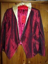 Tangzhilian Chinese Burgungy/Gold Taffeta & Silk Fully Lined Ladies Jacket XXL
