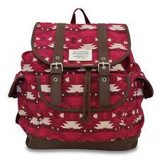 Sloane Ranger Aztec Slouch Backpack in Lush Burgundy Hues (SALE! 55% OFF!)