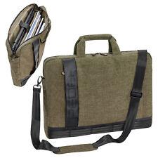 Notebooktasche Laptop Umhänge Tasche Case 17,3 Zoll mit Zubehörfächer, beige