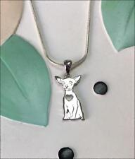 Chihuahua Sterling Silver Charm Necklace - New - FREE SHIPPING