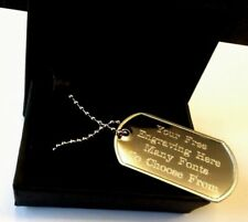 Metal-Army-Dog-Tags-ID-Tag-Necklace-Engraved-Gift-Free-Gift-Box-Wedding gift