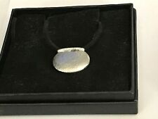 """Couldron With Pot TG12 English Pewter On 18"""" Black Cord Necklace"""