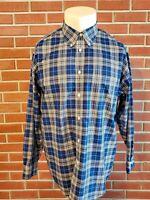 Brooks Brothers 1818 Madison Long Sleeve Button Down Non Iron Shirt Mens XL EUC