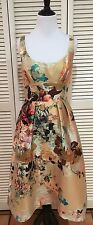 Laundry By Shelli Segal Platinum Sleeveless Floral Gown Cocktail Dress, NWT, 6