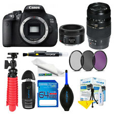 Canon EOS 750D EF 50mm f/1.8 STM Lens+AF 70-300mm f/4-5.6 Di LD+Expo Advanced