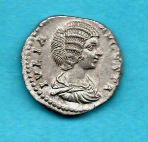 JULIA DOMNA (WIFE OF SEPTIMUS SEVERUS) DENARIUS, ROMAN SILVER COIN. 193 - 211 AD