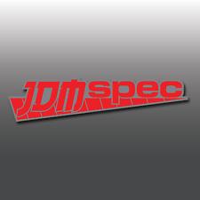 JDM SPEC 2 COLORI Paraurti/Finestrino Auto Giapponese Drift, Adesivo decalcomania in vinile EURO