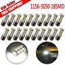 20x White 1156 BA15S 18SMD 5050 LED Light Bulbs Tail Brake Stop Turn Signal 1141