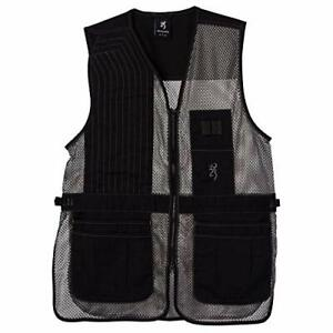 Browning Shooting Hunting Vest Trapper Creek Black Grey Small