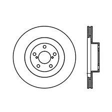 Power Slot Slotted Brake Rotor fits 2001-2008 Subaru Impreza Forester Baja  POWE