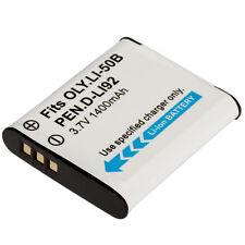 LI-50B 1400mAh Battery for Olympus mju 1020 Stylus 1030 SW /Pentax D-LI92