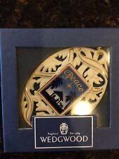 New Wedgwood 1997 Annual Christmas Tree Peace White Jasper Ornament Boxed Nib