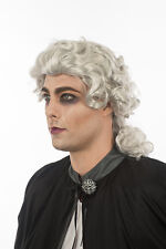 Shiny White Silver Lawyer Court Judge Vampire English British Europe Wig 401
