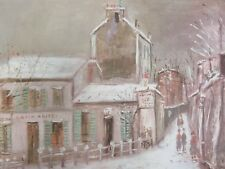 """MAURICE UTRILLO - """" LAPIN AGILE IN WINTER""""  OFFSET LITHO   PERFECT,  NICE SIZE"""