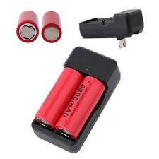 2PCs-3.7V 8800mAh Rechargeable 26650 Li-ion Battery-with US Plug Charger Set