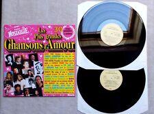 """DISQUE  VINYLE 33T 2 X LP MUSIQUE / LES 30 PLUS GRANDES CHANSONS D'AMOUR"""" 1988"""