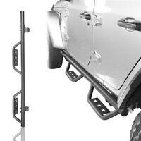 2Pcs Star Logo Side Step Running Boards Nerf Bar for Jeep Wrangler JL 18-20 4Dr