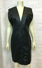 Theyksens' Theory Black Lamb Leather Dress  4US