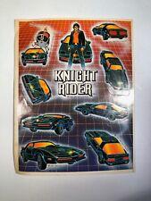 KNIGHT RIDER TV KIT DAVID HASSLEHOFF VINTAGE 1983 STICKER SHEET