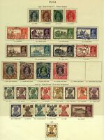 India 1937/46 KGVI range of issues to include '37 designs to 10Rs, '40 de Stamps