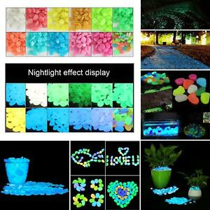 Luminous Stones Glow in the Dark Pebbles Aquarium Garden Yard Walkway Decor Lot