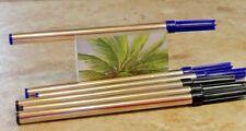4 GEL ROLLERBALL REFILLS BLUE NEW 8521-2 FITS ALL CROSS ROLLER ball pens