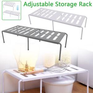 Adjustable Kitchen Cupboard Organiser Shelf Storage Rack Support Pantry Stand