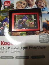 "Kodak G240 Portable Digital Photo Viewer 2.4"" TFT LCD Display 2MB Memory NIP"