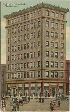 Black Hawk National Bank in Waterloo IA Postcard 1911