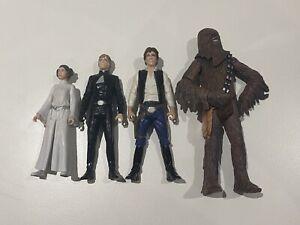 Star Wars - Leia, Luke, Han & Chewbacca Figures