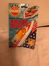 Vintage  Ja-RU Battery Operated Toy  Racing Boat New in Package 1986