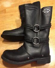87012 - Harley-Davidson Womens 9.5 Chantay Black LEATHER High Cut Boot-EUC