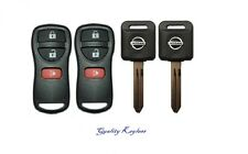 2 3B Replacement Keyless Entry Remote Fob Clicker + 2 Transponder 46 Chip Keys