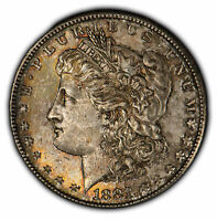 1881-S $1 Morgan Silver Dollar - Original Color Toning - UNC - SKU-D1661