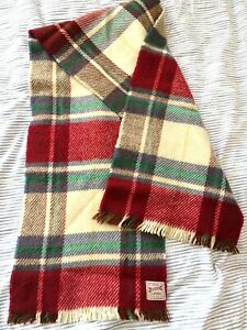 vintage Duggie Classic ~ all wool Scottish tartan warm scarf