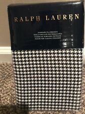 RALPH LAUREN SCREENING ROOM LOMBARD NAVY CREAM BLUE 2 STANDARD PILLOWCASES $130