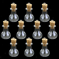 10x Refill Mini Glass Bottle Potion Cork Vial Wish DIY Pendant Craft Jewelry