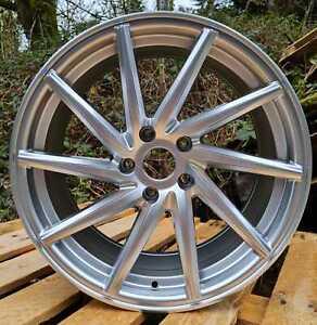 "Hyper Silver x4 19"" Vossen CVT Style Alloy Wheels 8.5J Bmw 1 2 3 Series"