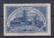 Reklamevignette Meklenburgische Hotel und Gastwirtmesse Schwerin 1927