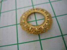 Western Germany Round Filigree Goldtone Scarf Clip