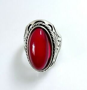 Beautiful Red Ruby Gemstone Astrological Men's Ring Size 12 Gem 49.90 Cts