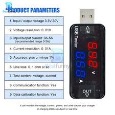 TENSIONE di corrente USB metro Tester 3Bit Voltmetro Amperometro Caricabatteria RIVELATORE